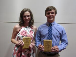 11th grade Top Scholar Athletes Libby Craig and Everett Herrington