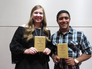 12th grade Top Scholar Athletes Kylie Gregory and Xavier Rodriquez