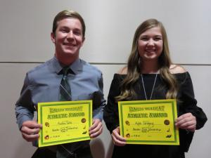 Booster Club Scholarship Austen Sollis and Kylie Gregory