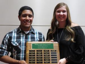 Wildcat Achievement Award Xavier Rodriquez and Kylie Gregory
