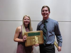 Tracy Saul Award Brooke Schilling and Austen Sollis