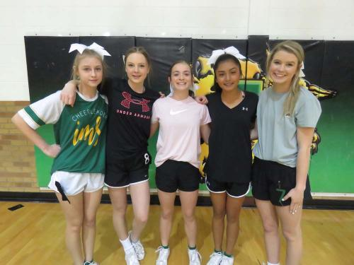 8th grade cheerleading candidates