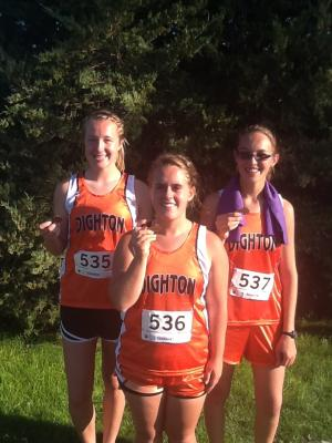 Payden 4th in Varsity; Katie 3rd in JV; Meagan 5th in JV