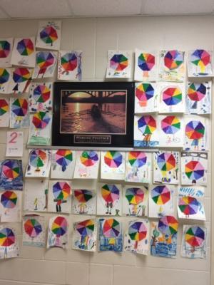 1st-3rd Color wheel Umbrellas