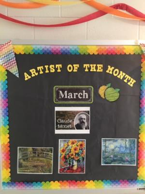 Artist of the month board