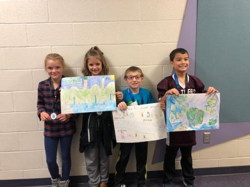 Classroom winners for the Franklin County Conservation District poster contest!  11-5-2018