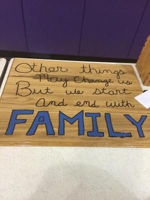 Taylar Pfaff's Family sign