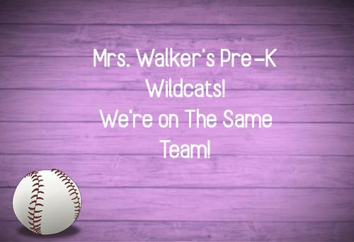 Mrs. Walker's Pre-K Wildcat