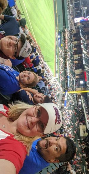 Rangers Game---Oh, how I missed baseball!
