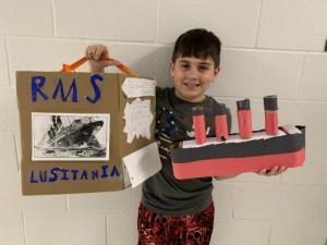 Hunter Wills, 5th Grade 2021 Lusitania Project