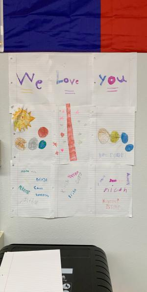 3rd grade students show their LOVE, 2019