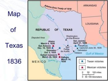 Map Of Texas During The Alamo.Harts Bluff Isd Tx History European Explorers The Alamo