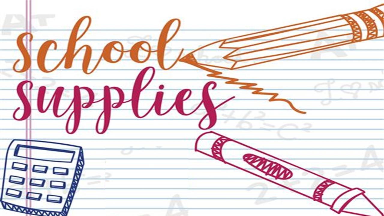 School Supplies 2021-2022