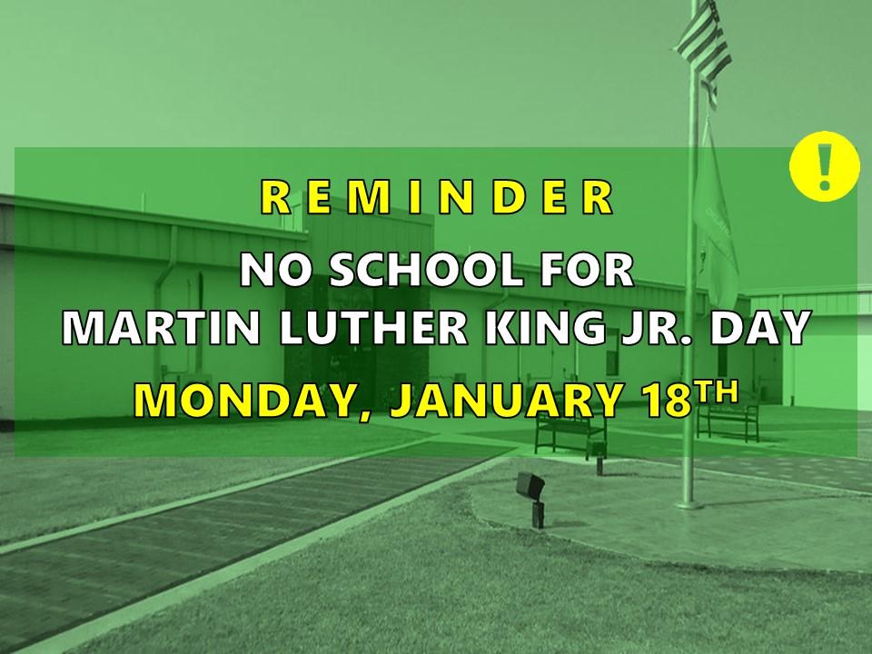 NO SCHOOL - MLK Day