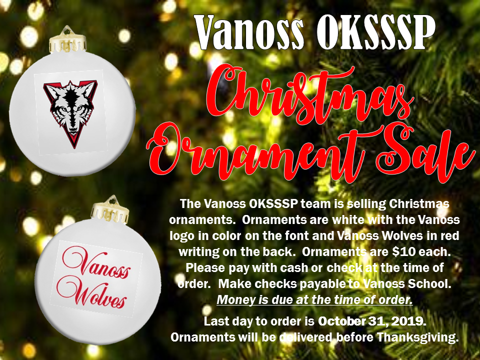 OKSSSP Ornament Sale - Click Here!!