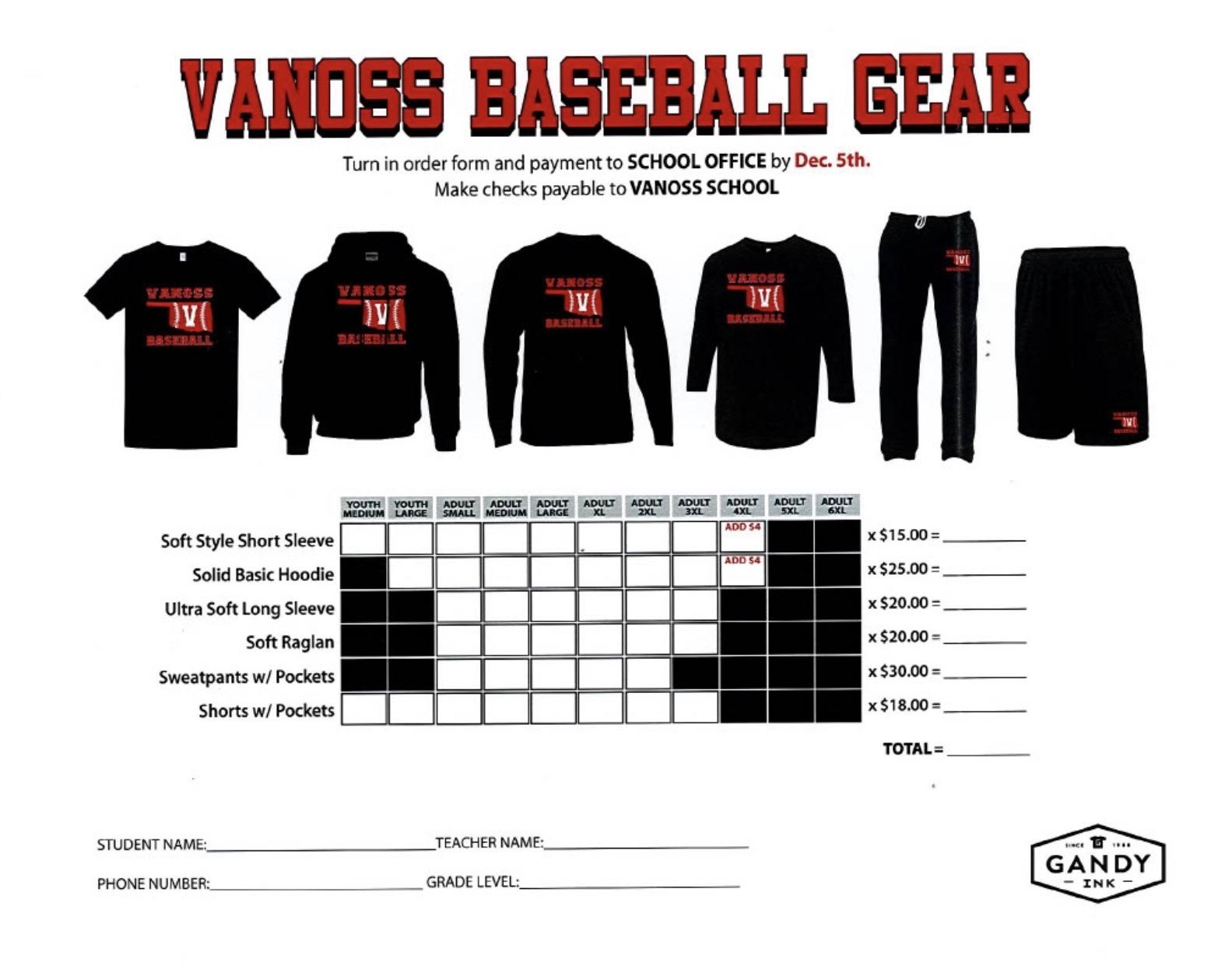 Order your Baseball Gear!