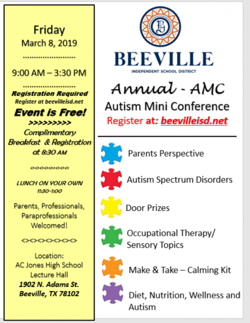 Autism Mini Conference March 8, 2019