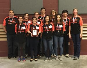 2017 Academic Decathlon state team