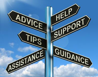 Counselor Sign Advice Help Tips Support Assistance Guidance
