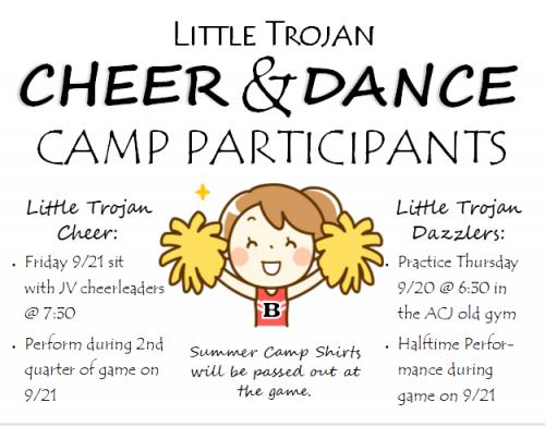 Little Trojan Cheer & Dance Flyer
