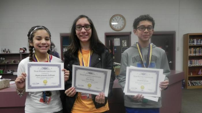 7th & 8th Grade Team Winners Noetic Math Competition