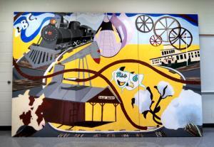 Barnhart Foundation Campus Mural 2014-2015, 96 sq. ft.