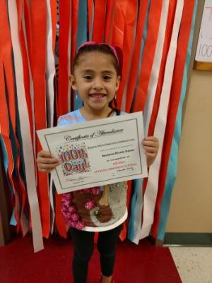Perfect Attendance for 100th Days--Navianna Gamez
