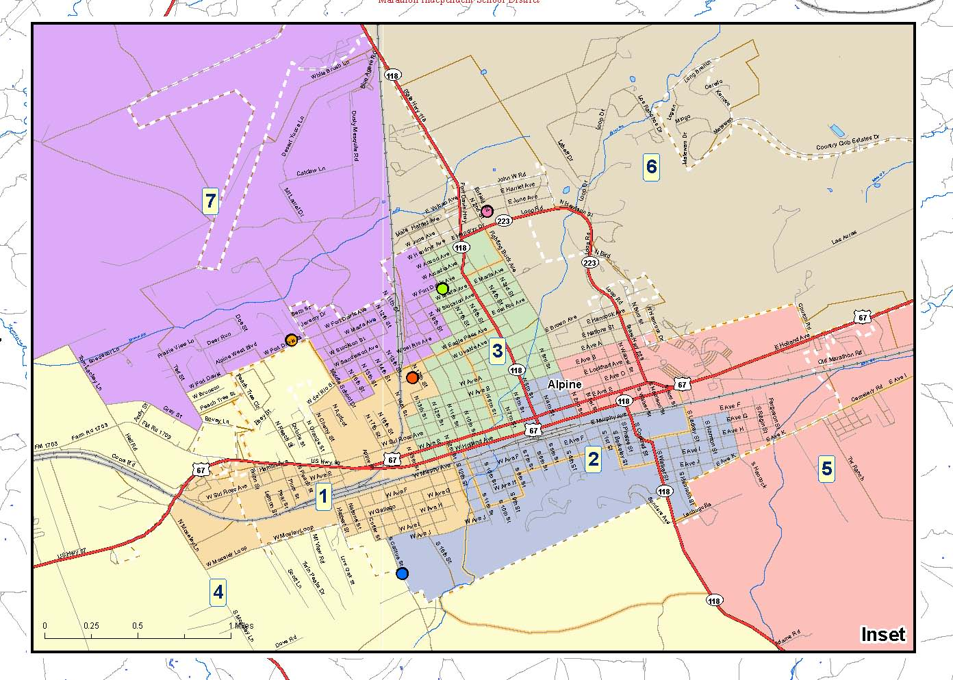 Alpine ISD - Maps of Single Member Districts on