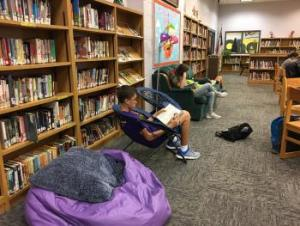 Mrs. Hopkins' ELA class reading.