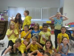Homecoming week 2013: Battle of the Colors Day: Ours was obviously Yellow!