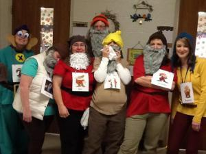 Kindergarten Teachers dressed for the Vocabulary Parade