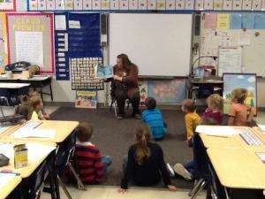 Mrs. Haller reading Green Eggs and Ham
