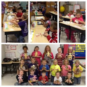 Mrs.Turner's class is making bears for the AR Children's Hospital