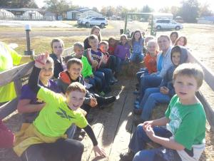 Hay ride at the pumpkin patch