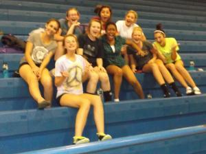 I don't know what it is about going to Arkadelphia but the junior high team, after their match, started being a cheering section for the senior high team. By the end this bunch had turned the match into a virtual home game. Major shout out to these girls.