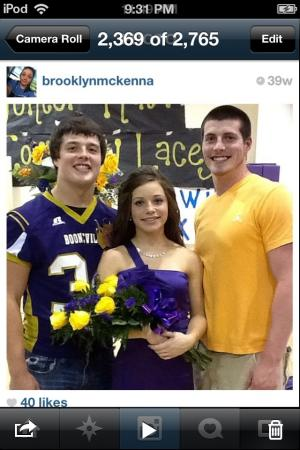 Bryson, Brooklyn, and Brock 2012 Football Homecoming