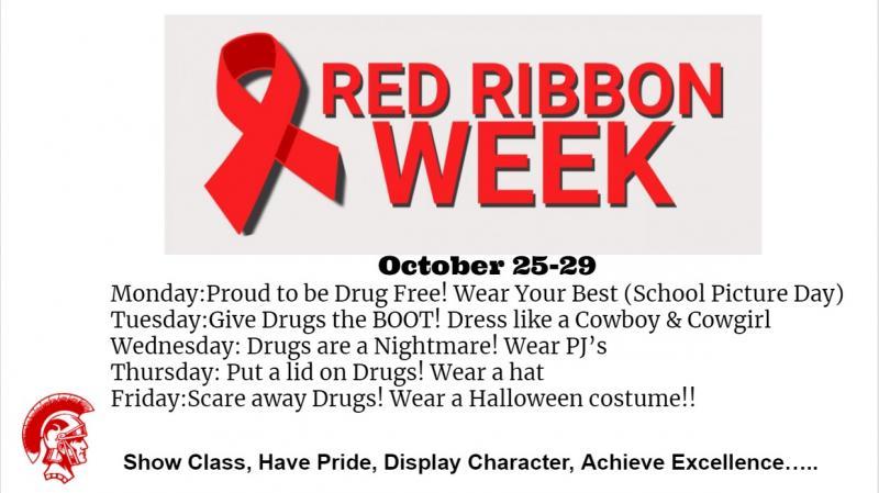 Red Ribbon Week October 25 to 29