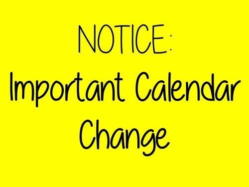 December Calendar Change