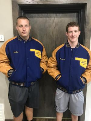 All-State power lifters Hayden Miller, Gunner Francis