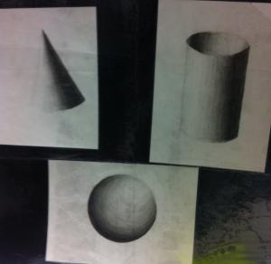 shading a Cylinder, Cone, and Sphere