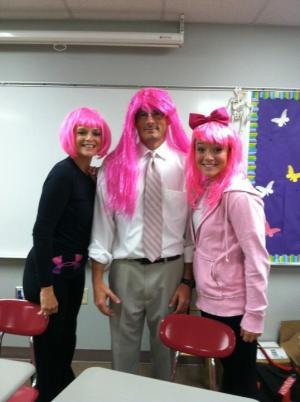 Mr Campbell shows his support for Pink Week too!