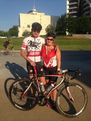 Scott and Kara after 63 mile bike ride