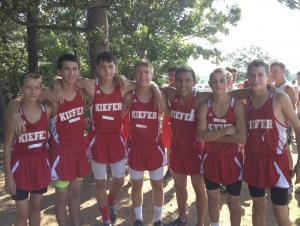 High School Boy's Cross Country team 2013