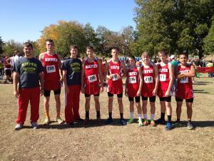 High School Boy's Cross Country team 2012- 5th at State, Academic State Champions, and All-stater Thomas Bacon