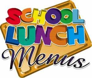 school lunch menus graphic