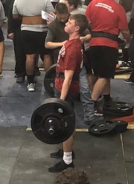Jonas deadlifting at Checotah