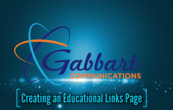 Landscape View facing Creating an Educational Links Page