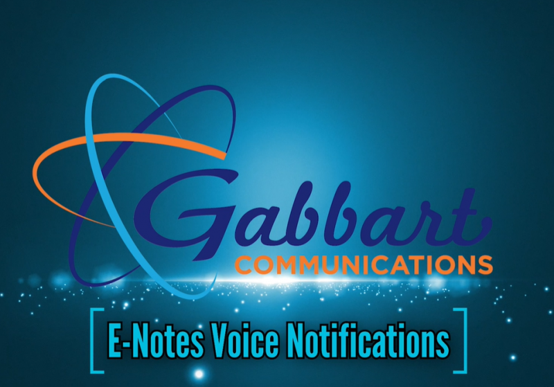 Landscape View facing E-notes Voice Notifications