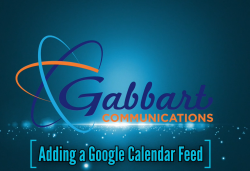 Landscape View facing Adding a Google Calendar Feed