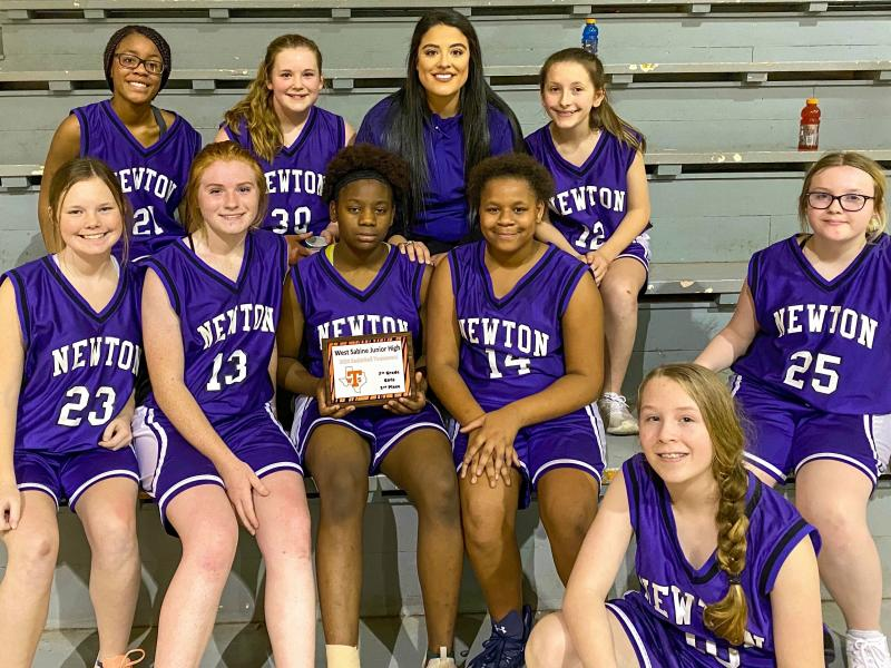 MS 7th Grade Girls' Basketball Team Places 2nd